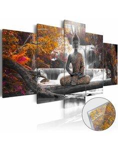 Tableau sur verre acrylique AUTUMNAL BUDDHA [GLASS] - par Artgeist