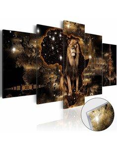 Tableau sur verre acrylique GOLDEN LION [GLASS] - par Artgeist