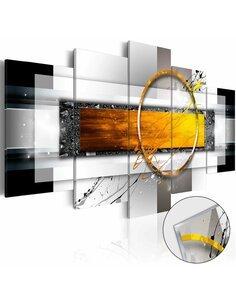 Tableau sur verre acrylique GOLDEN SHOT [GLASS] - par Artgeist