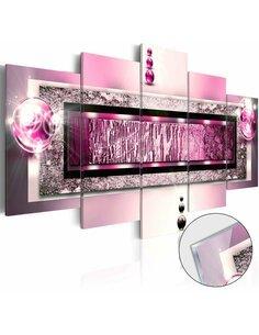 Tableau sur verre acrylique CYCLAMEN DREAM [GLASS] - par Artgeist