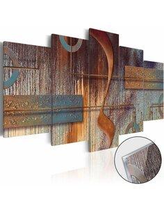 Tableau sur verre acrylique ORIENTAL COMPOSITION [GLASS] - par Artgeist