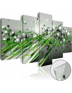 Tableau sur verre acrylique GREEN RHYTHM [GLASS] - par Artgeist