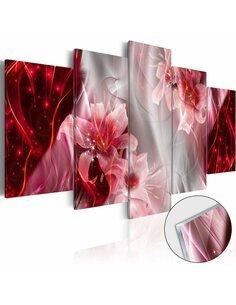 Tableau sur verre acrylique INCARNADINE COMET [GLASS] - par Artgeist