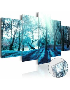 Tableau sur verre acrylique BLUE GLADE [GLASS] - par Artgeist