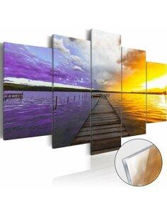 Tableau sur verre acrylique ROAD TO THE CLOUDS [GLASS] - par Artgeist