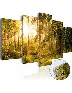 Tableau sur verre acrylique MAGIC OF FOREST [GLASS] - par Artgeist
