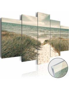 Tableau sur verre acrylique QUIET BEACH [GLASS] - par Artgeist