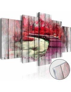 Tableau sur verre acrylique RED AUTUMN [GLASS] - par Artgeist
