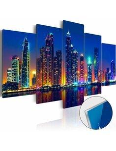 Tableau sur verre acrylique NIGHTS IN DUBAI [GLASS] - par Artgeist