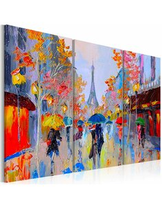Tableau peint à la main RAINY PARIS - par Artgeist