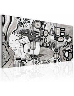 Tableau peint à la main SILVER KISS - par Artgeist