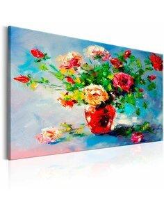 Tableau peint à la main BEAUTIFUL ROSES - par Artgeist