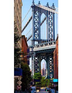 Papier peint pour porte NEW YORK: BRIDGE - par Artgeist