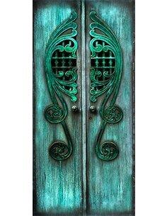 Papier-peint pour porte Emerald Gates  Papier-peints pour porte Artgeist