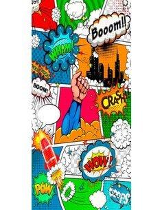 Papier-peint pour porte Comic World  Papier-peints pour porte Artgeist