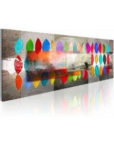 Tableau Panoramique - Formes et couleurs - par Artgeist