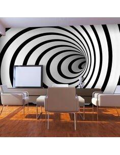 Papier peint TUNNEL 3D EN N&B - par Artgeist