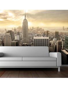 Papier peint NEW YORK MANHATTAN À L'AUBE - par Artgeist
