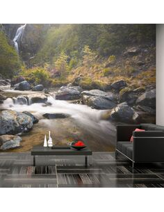 Papier peint OHAKUNE WATERFALLS IN NEW ZEALAND - par Artgeist