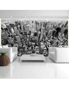 Papier peint ÉTATS-UNIS, NEW YORK: EN N&B - par Artgeist