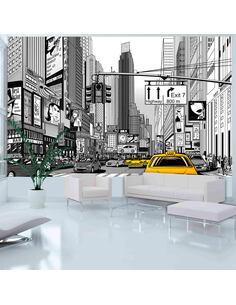 Papier peint BD TAXIS JAUNES À NEW YORK - par Artgeist