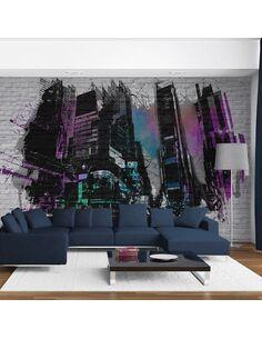 Papier peint ART URBAIN : GRANDE VILLE MODERNE - par Artgeist