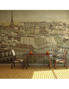 Papier peint GOOD BYE PARIS! - par Artgeist
