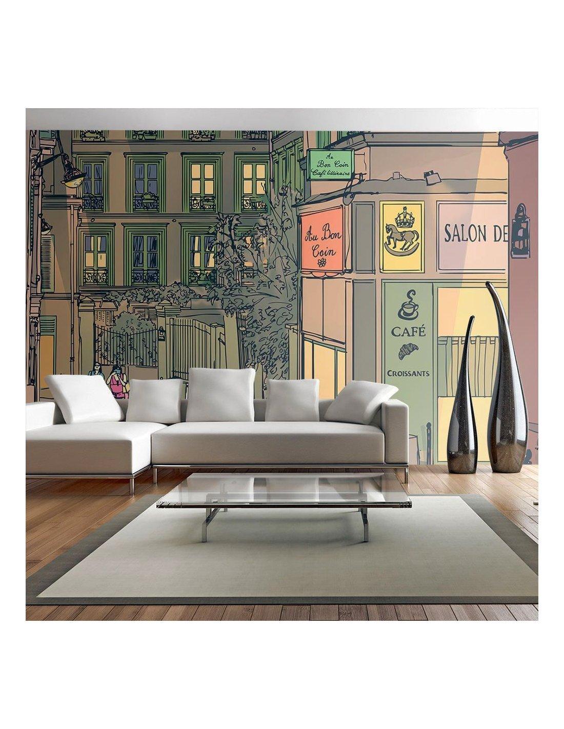 Papier Peint Petit Salon papier peint petit-dÉjeuner À paris | artgeist | multicolore