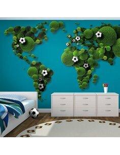 Papier peint A WORLD OF FOOTBALL - par Artgeist