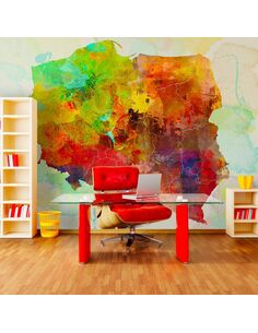 Papier peint MAP POLOGNE - par Artgeist