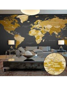 Papier peint grand format WORLD MAP: MODERN GEOGRAPHY II - par Artgeist