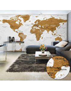 Papier peint grand format WORLD MAP: WHITE OCEANS II - par Artgeist