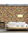 Papier peint grand format RAINBOW MOSAIC - par Artgeist