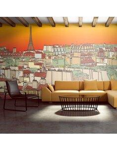 Papier peint grand format CAFÉ DU MATIN À PARIS - par Artgeist
