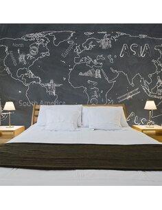 Papier peint grand format PETIT VOYAGE. GRAND VOYAGE EN ANGLAIS - par Artgeist