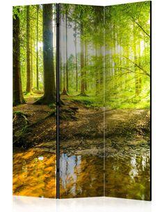 Paravent 3 volets FOREST LAKE - par Artgeist