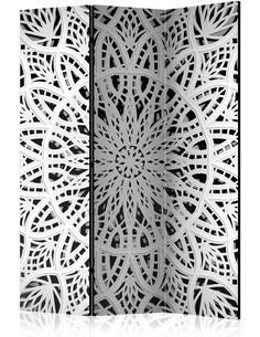 Paravent 3 volets WHITE MANDALA - par Artgeist