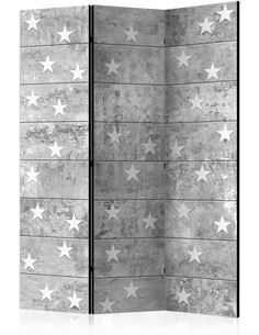 Paravent 3 volets STARS ON CONCRETE - par Artgeist