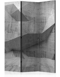 Paravent 3 volets CONCRETE GEOMETRY - par Artgeist