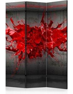 Paravent 3 volets RED INK BLOT - par Artgeist
