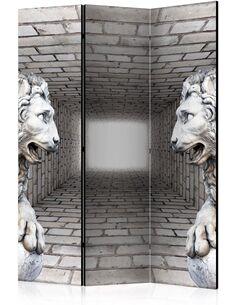 Paravent 3 volets STONE LIONS - par Artgeist