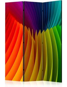 Paravent 3 volets RAINBOW WAVE - par Artgeist