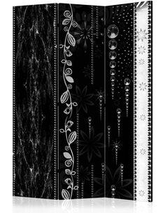 Paravent 3 volets BLACK ELEGANCE - par Artgeist