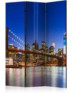 Paravent 3 volets BLUE NEW YORK - par Artgeist