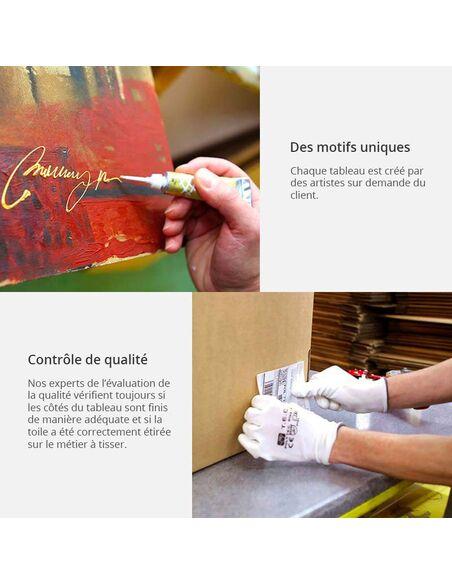 Tableau peint à la main ARC EN CIEL DE FLEURS - par Artgeist