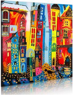 Tableau peint à la main RUE MAGIQUE - par Artgeist