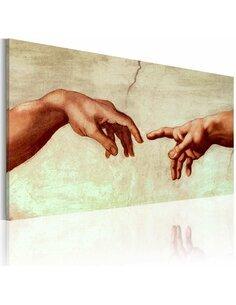 Tableau peint à la main LA CRÉATION D'ADAM: FRAGMENT DE PEINTURE - par Artgeist