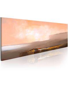 Tableau peint à la main ROSE ET GRIS - par Artgeist