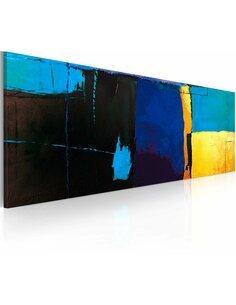 Tableau peint à la main LA FASCINATION POUR LA COULEUR BLEUE - par Artgeist