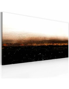 Tableau peint à la main BLACK SOIL Abstraction - par Artgeist